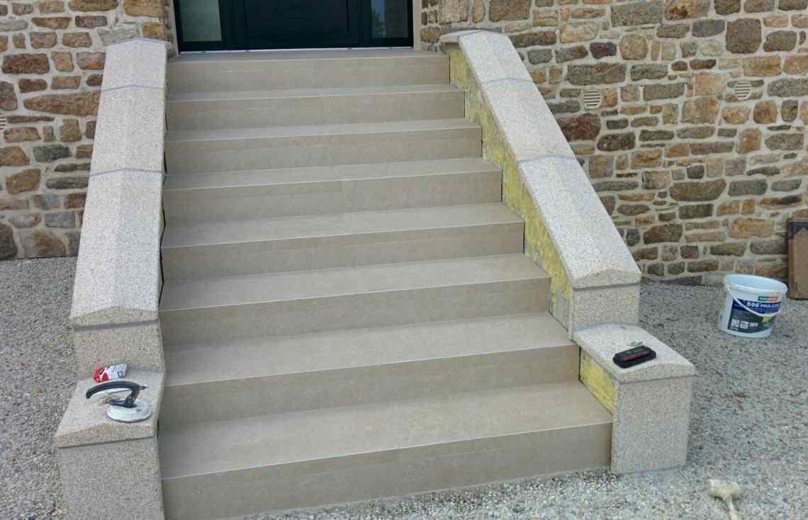 Escalier Terrasse réalisé par Luco & Bataller à Fougères