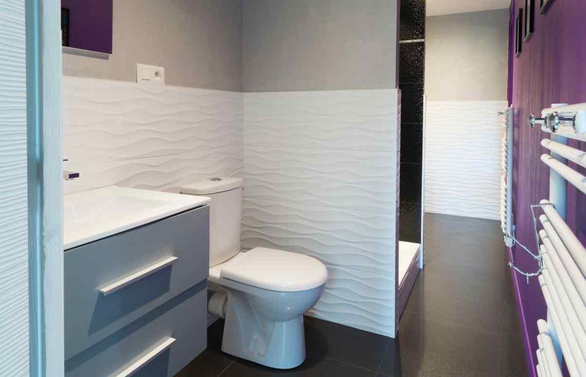 Carrelage Faïence Salle de bain Toilettes réalisé par Luco & Bataller à Cancale