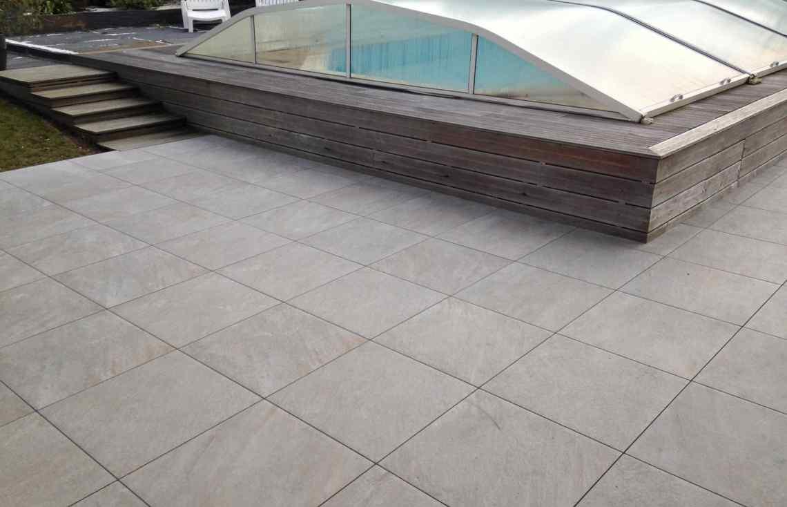 Carrelage Terrasse réalisé par Luco & Bataller à Dinard