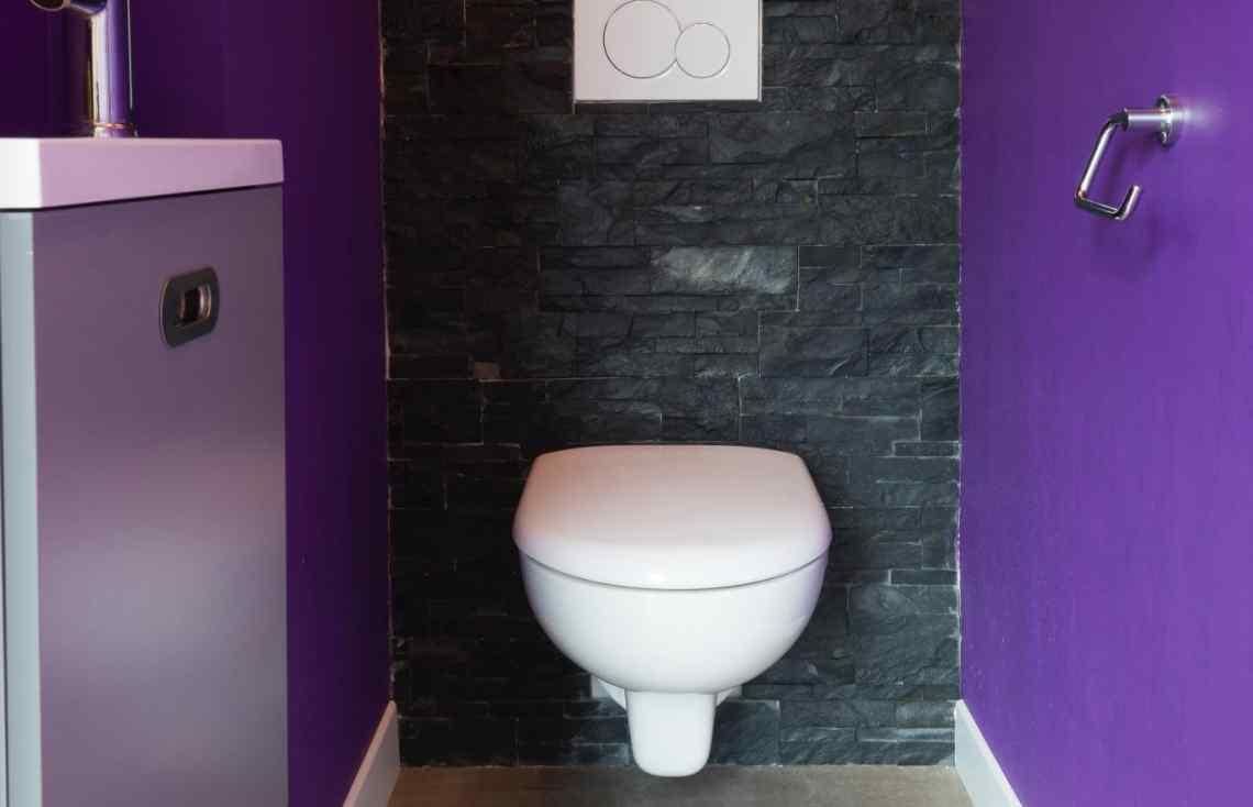 Toilettes Carrelage Parement Grand formats réalisé par Luco & Bataller à Rennes